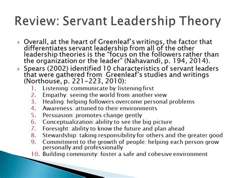 transformational servant leadership theory youtube