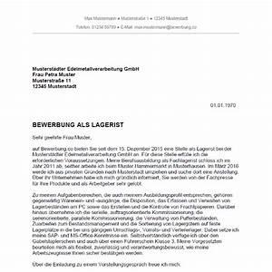 Bewerbung Als Lagerarbeiter : bewerbung als lagerist lageristin ~ Eleganceandgraceweddings.com Haus und Dekorationen