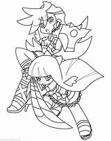 Panty Stocking Lineart Coloring Deviantart Template Sketch Deviant Breauna sketch template