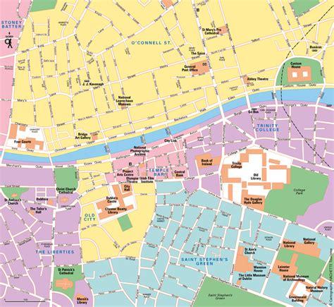 Carte Touristique Centre by Carte Dublin Plan Dublin Routard