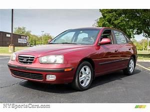 2003 Hyundai Elantra Gt Hatchback In Chianti Red