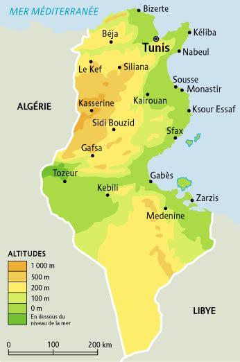 Carte De Tunisie Avec Villes by Villes De Tunisie Voyages Cartes