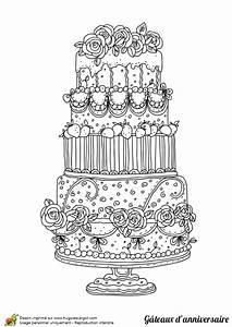 Dessin Gateau Anniversaire : dessin colorier g teau d anniversaire pour les parents ~ Melissatoandfro.com Idées de Décoration