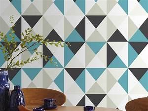 Papier Peint Motif Geometrique : papier peint vinyle expans intiss motif g om trique 10 ~ Dailycaller-alerts.com Idées de Décoration