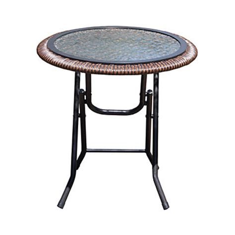 Wilson Fisher Patio Table by View Wilson Fisher 174 18 Quot Glass Top Resin Wicker