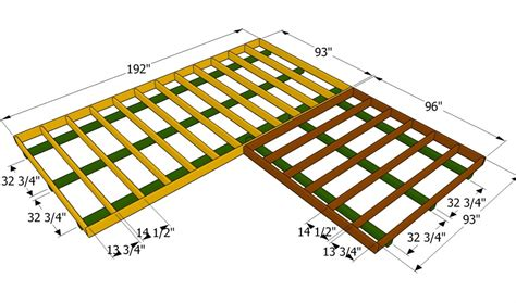 how to build a floor for a house building the floor frame for a l shaped shed outdoor shed plans free pinterest floor