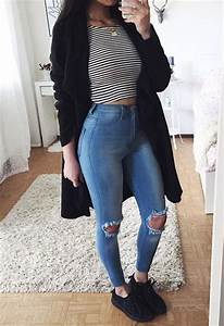 25+ best ideas about Ripped jeans outfit on Pinterest | Ripped jeans Swag and Ripped jeans style