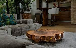 Beistelltisch Holz Rund : beistelltisch holz baumstamm ~ Frokenaadalensverden.com Haus und Dekorationen