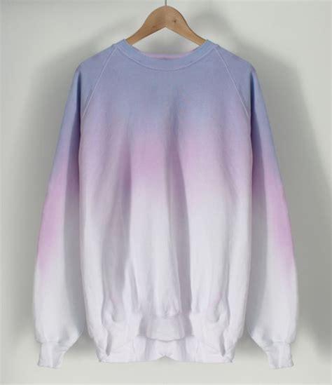 Andclothing — Pastel Crayon Dip Dye Sweater