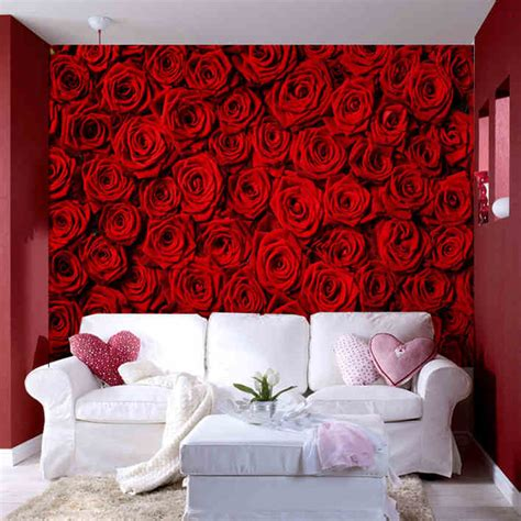 photo wallpaper modern rose wall living room tv wall