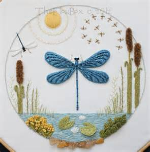 Embroidery Stumpwork Dragonfly