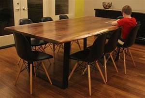 solid wood dining table Dining Room Industrial with acacia ...