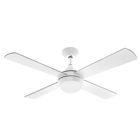 arlec 120cm white columbus ceiling fan with led light and