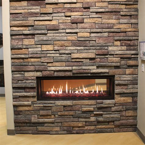 manufactured stone fireplace stone patio