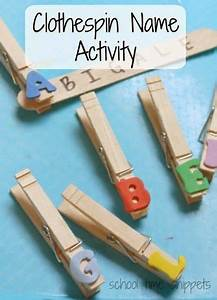 clothespin name activity for preschoolers letter and name With clothespin letters