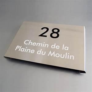 Plaque De Maison : plaque maison inox votre plaque de maison en inox bross personnalis e creativ 39 sign ~ Teatrodelosmanantiales.com Idées de Décoration
