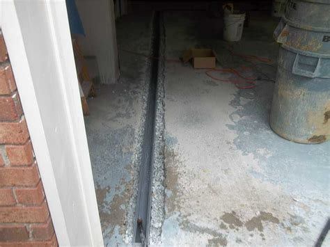 Basement Waterproofing   Garage Floor Waterproofed with