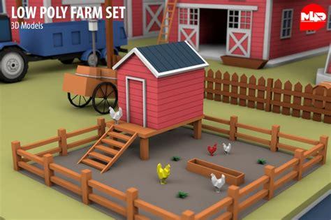 poly farm set  model cgstudio