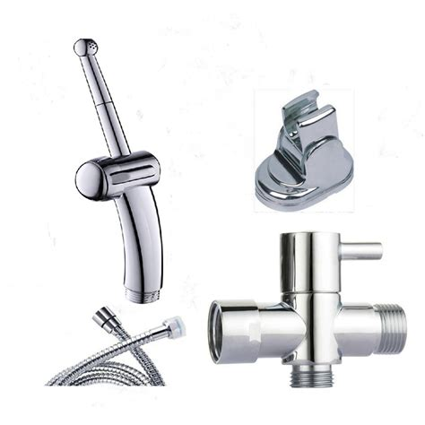 Handheld Bidet Sprayer Set For Toilets - new 4pcs set chrome abs toilet sprayer handheld bidet
