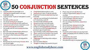 50 Conjunction Sentences In English