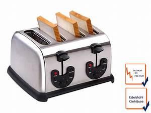 4 Schlitz Toaster : 4 scheiben edelstahl profi toaster toastautomat 4 schlitz ~ Michelbontemps.com Haus und Dekorationen