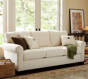 buchanan roll arm upholstered sleeper sofa pottery barn With buchanan sectional sofa pottery barn