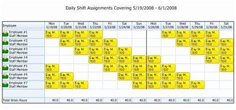 luxury rotating weekend schedule template