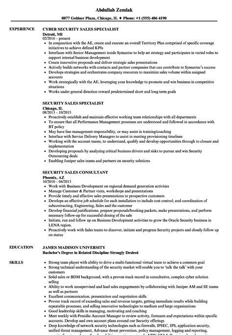 security sales resume samples velvet jobs