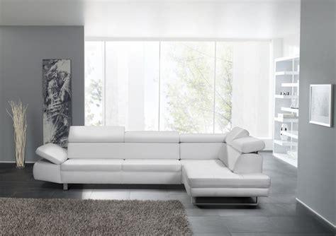 canape en cuir design canapé design 3 places bandibandi cuir blanc