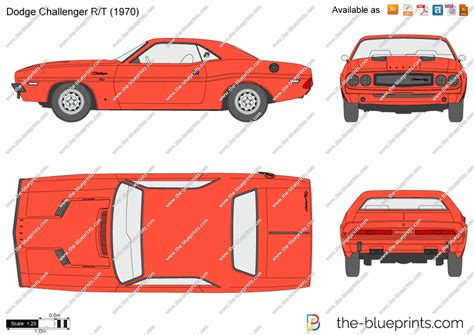 dodge challenger rt vector drawing