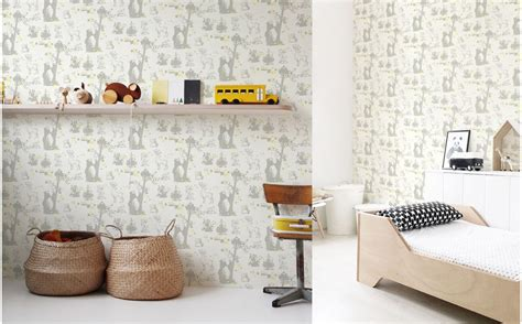 Wallpaper With Animals For Rooms - forest animals wallpaper room wall decor