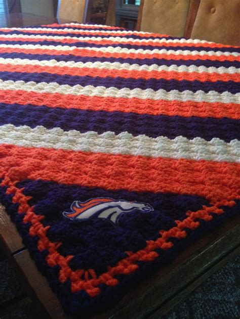 1000 images about afghans crochet on 1000 images about broncos crochet blanket on