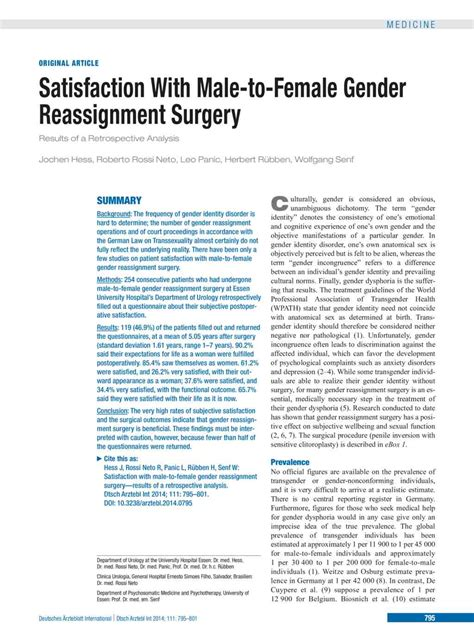Male reassignment surgery