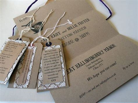 rustic shabby chic wedding stationery with brown card