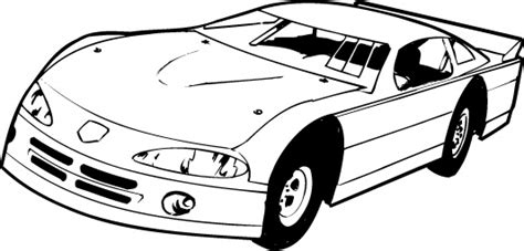 Black And White Race Car Clipart