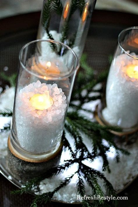 dollar tree lights diy glass and wood candleholders