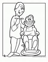 Coloring Pages Dentist Orthodontist Tooth Exam sketch template