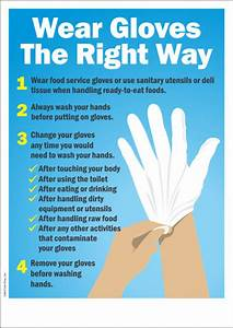 Wear Gloves The Right Way (Hygienic Food Preparation