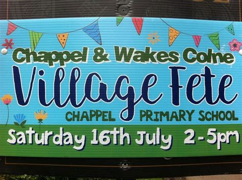 chappel wakes colne village fete  chappel primary