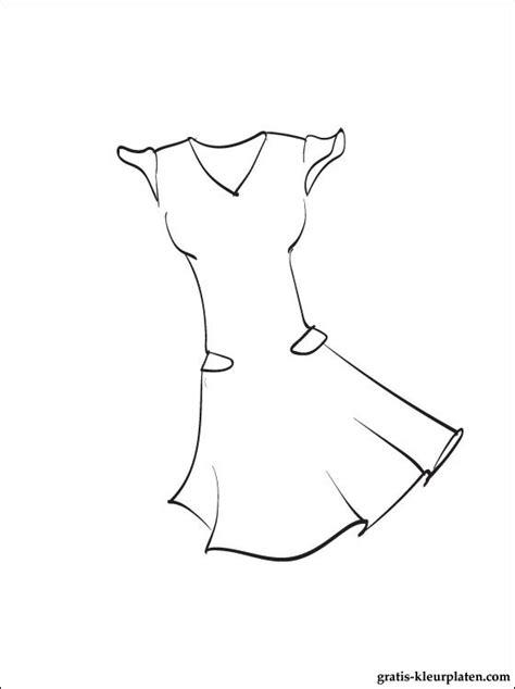 Jurk Kleurplaat jurk om in te kleuren gratis kleurplaten