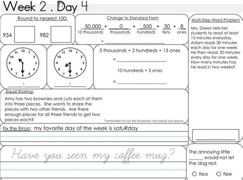 morning work 3rd grade worksheets worksheets for all