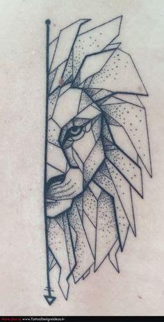 geometric lion  dotwork lion tattoo geometric