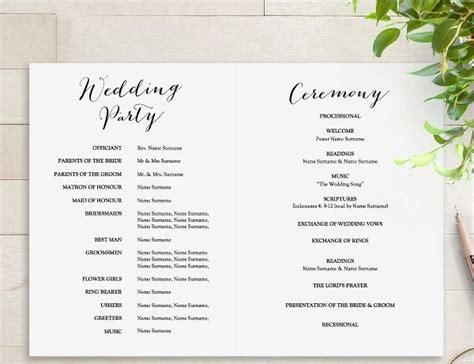 wedding program templates psd ai eps publisher