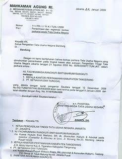 contoh surat kuasa  ptun