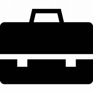 Briefcase black tool Icons