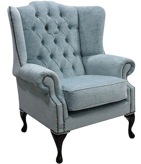Duck Egg Blue Armchair by Duck Egg Blue Chesterfield Mallory Wing Chair