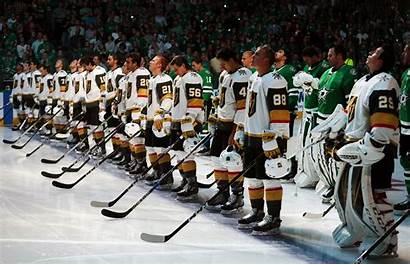 Knights Vegas Golden Dallas Stars Ice Behind