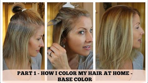 part  home hair color   color  base youtube