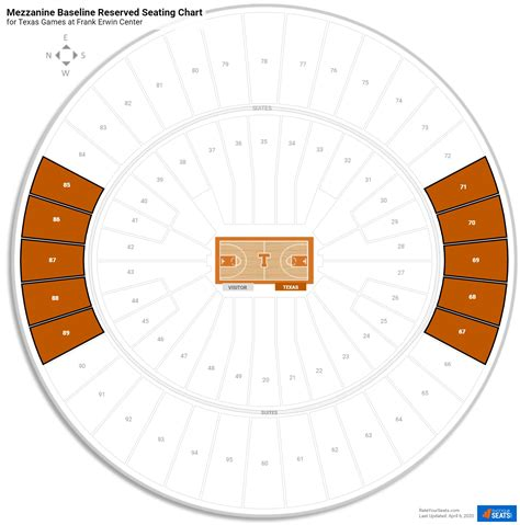 frank erwin center texas seating guide rateyourseatscom