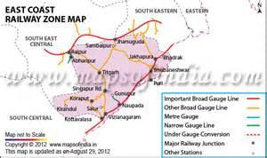 East Coast Railway Map
